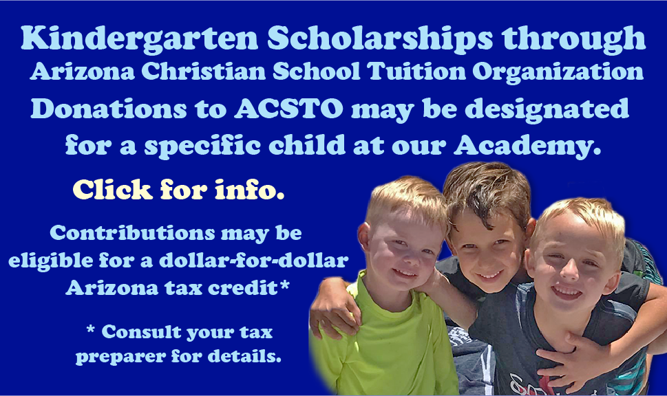 Click to learn about Kindergarten scholarships through ACSTO