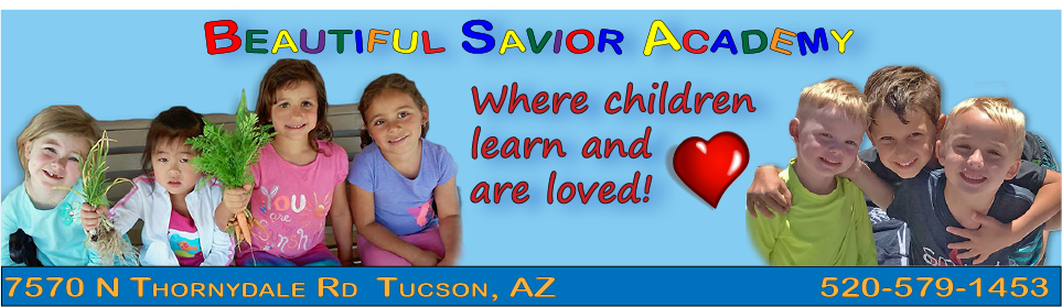 Beautiful Savior Academy Website Banner
